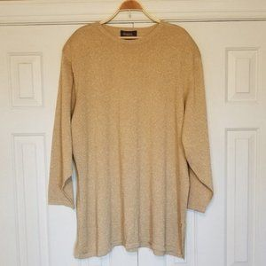Lane Bryant Sparkly Metallic Gold Sweater Tunic